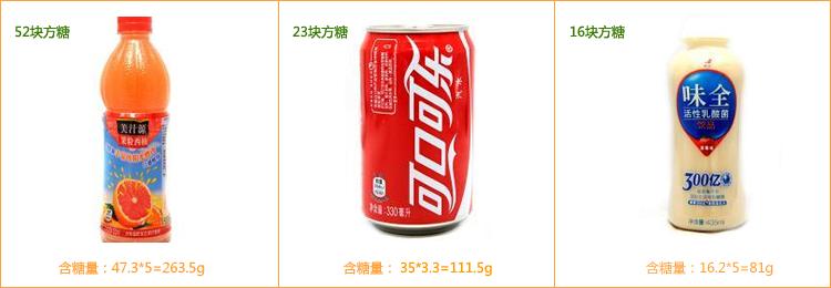 一瓶饮料的含糖量早已超标