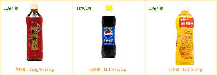 一瓶饮料含糖量早已超标
